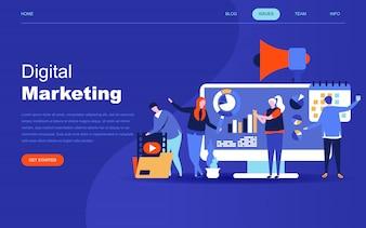 Современная плоская концепция дизайна цифрового маркетинга