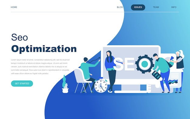 Modern flat design concept of seo analysis