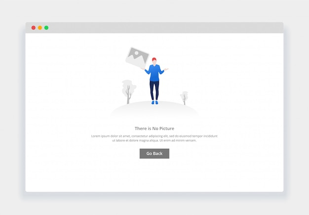 Modern flat design concept of there is no image for website and mobile website. empty states page template