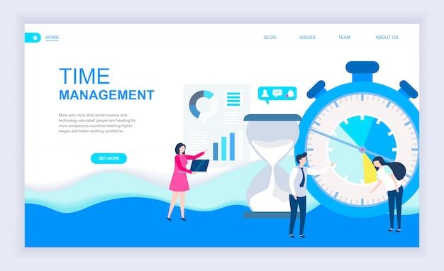 Modern flat design concept of time management