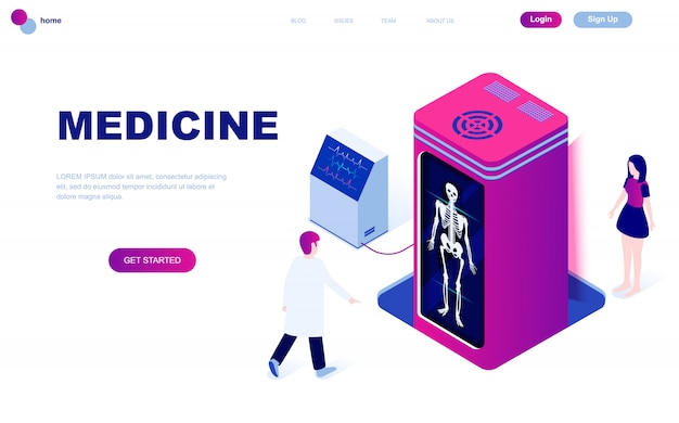 Modern flat design isometric concept of medicine