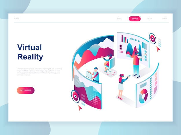 Modern flat design isometric concept of virtual reality