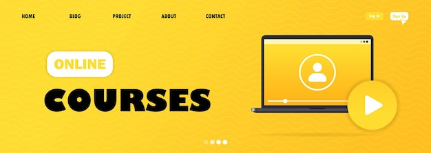 Modern flat design of online education for the site and mobile site