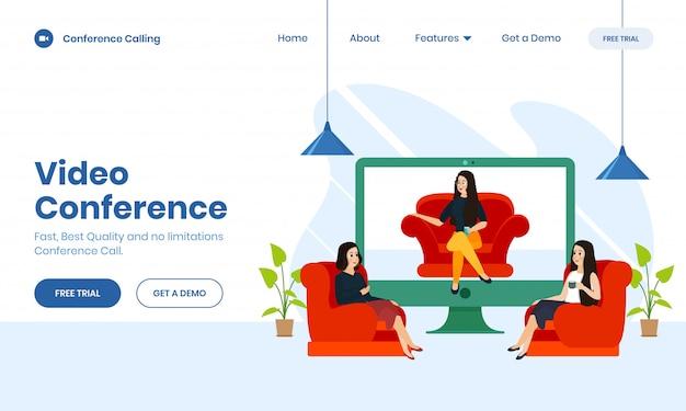 Modern flat design web template