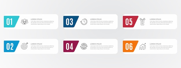 Modern flat elements infographic template