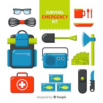 Modern flat emergency survival kit