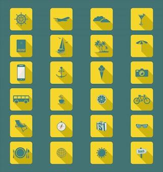 Современная плоская коллекция иконок