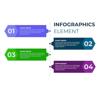 Modern flat infographic design. four step infographic design template.