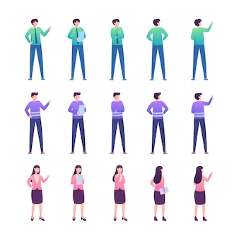 Modern flat people illustration collection
