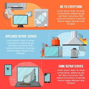 Modern flat repair service concept