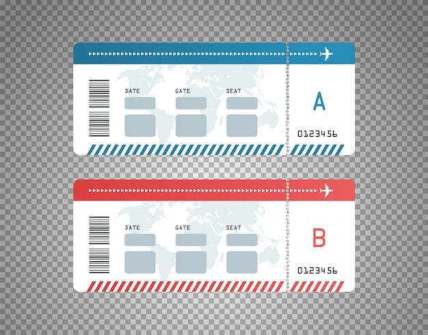 Modern flight tickets design template