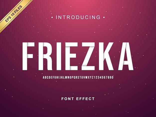 Modern flip alphabet font effect