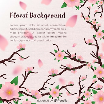 Modern floral background with realistic design