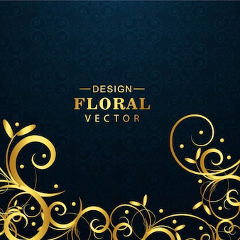 Modern floral luxury background