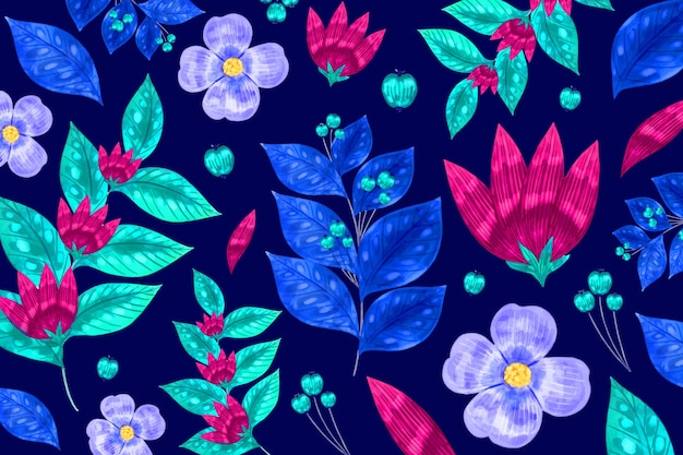 Modern floral seamless pattern background