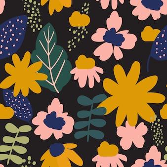 Modern floral seamless pattern