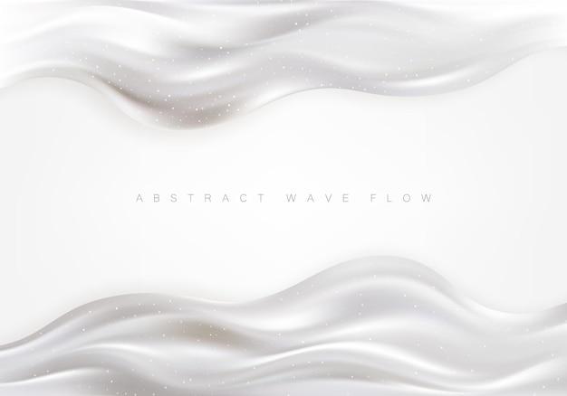 Современный плакат потока волна серая жидкая форма элемент дизайна