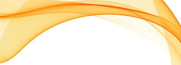 Modern flowing orange wave banner background