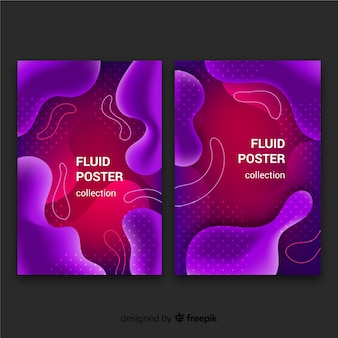 Modern fluid background collection