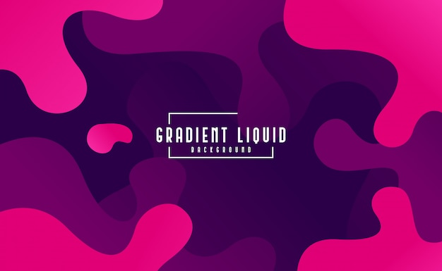 Modern fluid background with liquid color