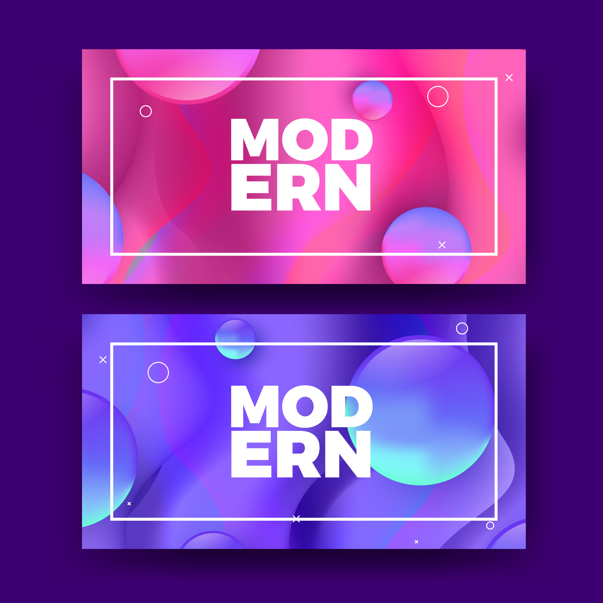 Modern Fluid Blobs Colorful Gradient Background