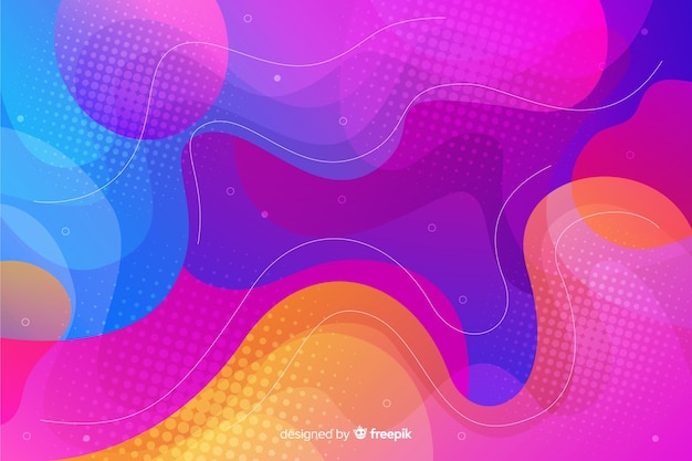 Modern fluid shapes background