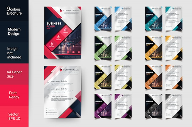 Modern flyer brochure multi color template