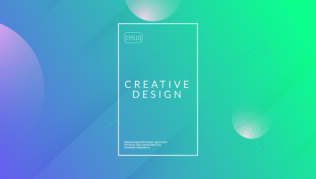 Modern flyer. spectrum geometry. neon shape. pink bright banner. flat landing page. flow liquid poster. fluid concept. memphis frame. lilac modern flyer