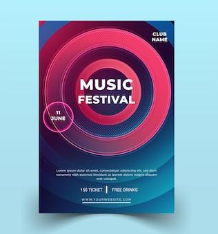 現代のチラシテンプレート音楽祭
