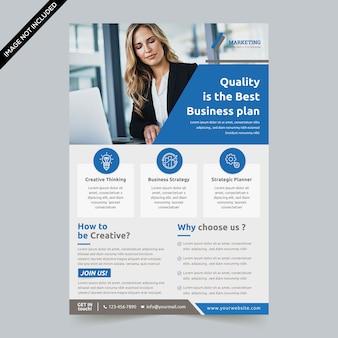 Modern flyer template premium