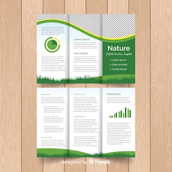 Modern flyer template with infographic elements