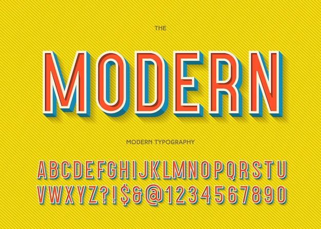 Modern font 3d typography colorful style for party poster