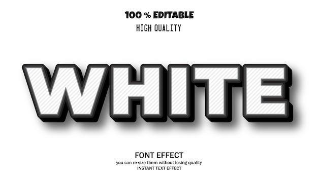 Modern font effect for banner or sticker, editable font