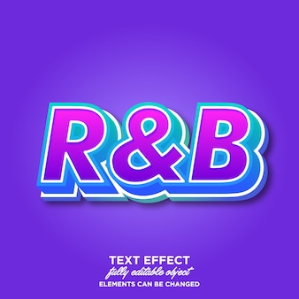 Modern font effect for music event
