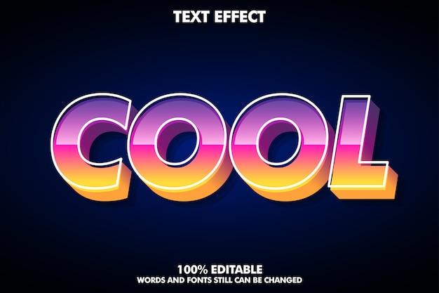 Modern font effect