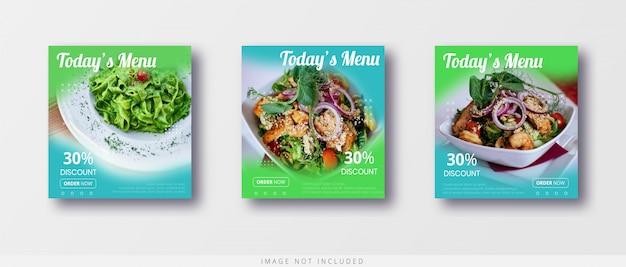 현대 음식 판매 인스 타 그램 게시물 및 소셜 미디어 배너 템플릿