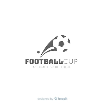 Modern football team logotype template