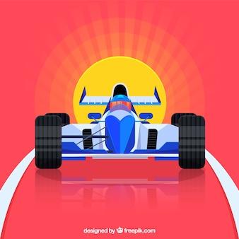 Modern formula 1 racing car with flat design