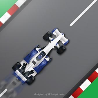 Современный гоночный автомобиль формулы 1 с реалистичным дизайном