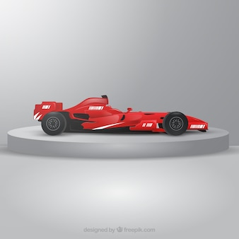 Modern formula 1 racing car with realistic design