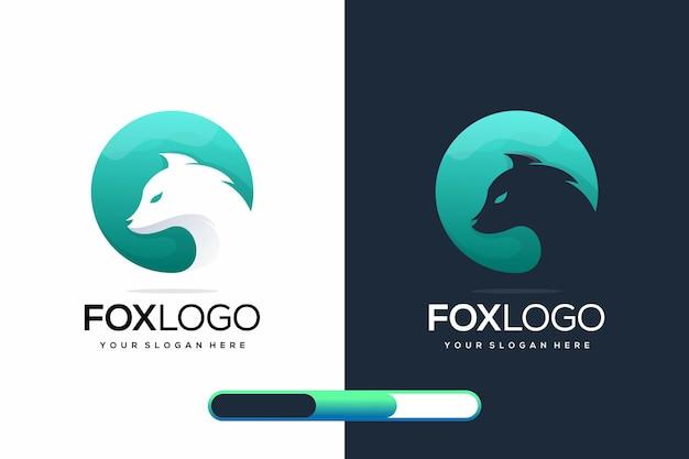 현대 여우 로고 디자인
