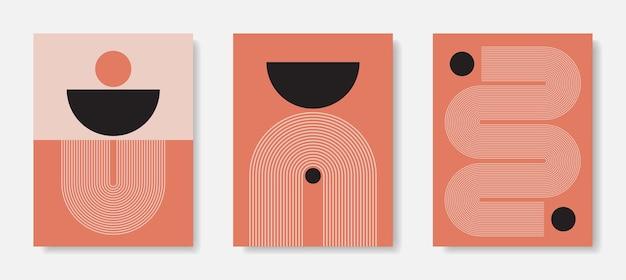 현대 프레임 아트. 추상 벽 예술. 디지털 인테리어 장식 예술. 프리미엄 벡터