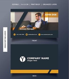 Modern frame business card template
