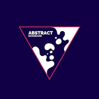Современная рамка на темном фоне. яркий плакат с динамическими вкраплениями. векторная иллюстрация минимальный плоский стиль