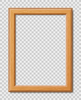 Modern frame for photo or pictures with shadow. realistic wooden frame.