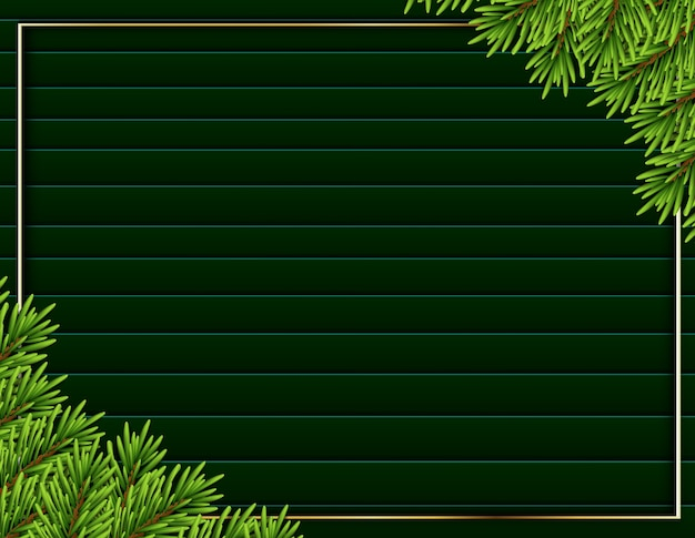 Современная рамка реалистичный фон дерева