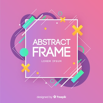 Modern frame with abstract shapes