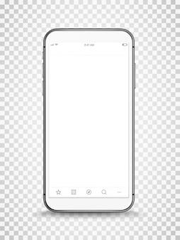 モダンなフレームレススマートフォンのモックアップ