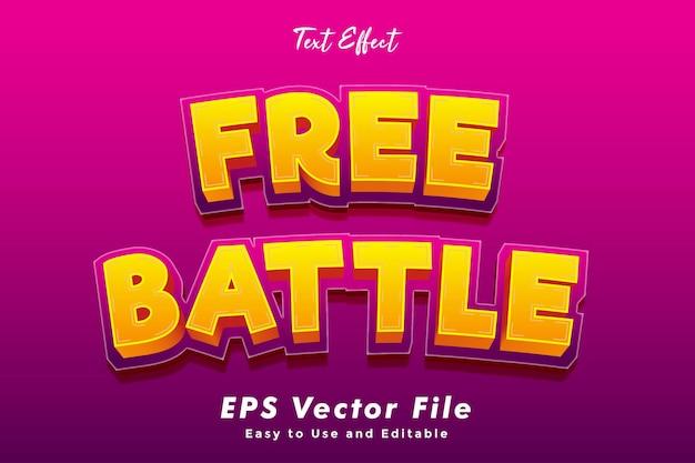 Современный бесплатный текстовый эффект битвы.