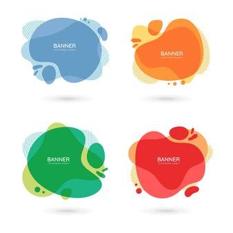 現代の自由形式の抽象的なベクトルバナーテキストスペースとさまざまな色のフラットなデザイン